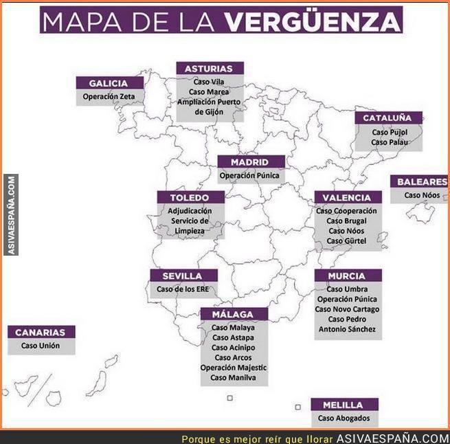 Mapa España Corrupción