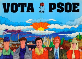 Cartel de 1977, obra de José Ramón Sánchez