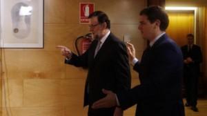 MADRID 11 02 2016 Politica El Presidente del Gobierno Mariano Rajoy se reune en el Congreso de los Diputados con el presidente de Ciudadanos Albert Rivera FOTO de AGUSTIN CATALAN