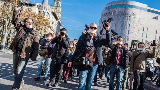 Manifestación en Barcelona contra la 'ley mordaza'. / Enric Català