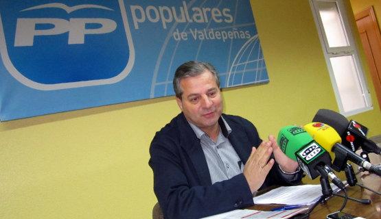Antonio de la Torre Camacho, presidente del Partido Popular de Valdepeñas