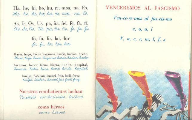 Fragmento de la Cartilla escolar antifascista/ Europeana Collections