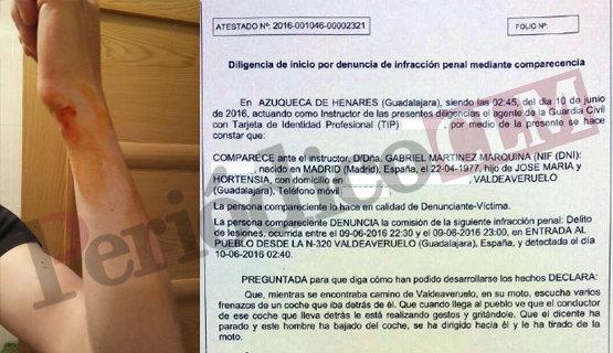 Extracto de la denuncia junto a algunos de los daños físicos | periodicoclm.es